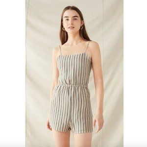 Urban Outfitters Tie-Back Yarn Dyed Romper XS
